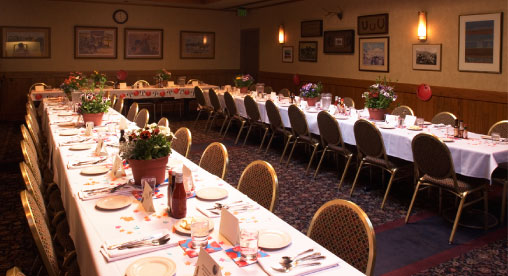 Sayler's banquet room can host from 20 to 85 people